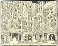 Incredibly Detailed Sketches from the portfolio of Ricardo Martinez