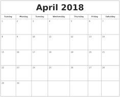Calendar April 2018.14 Best Free Printable Calendar April 2018 Images Online Calendar
