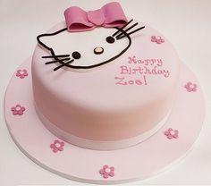 New Cake : Hello Kitty Birthday Cake Models, Torta Hello Kitty, Hello Kitty Birthday Cake, Hello Kitty Cake Design, Birthday Cake Models, Birthday Cake Pictures, Fondant Cakes Kids, Fondant Bow, Cake Image Free, Hello Kitty Wedding
