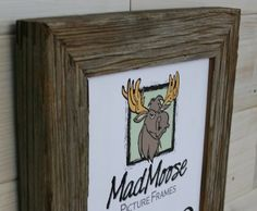 """◊ MadMoose Picture Frame by LunarCanyon: Our Barn Wood Picture Frame - Classic 1.25 is created from 1¼"""" wide x 1 thick, barn wood boards, all of which have been carefully selected for grayish-brown color tones, but most boards will contain multiple color tones within the weathering. Barn Wood Picture Frames, Picture On Wood, Change Picture, Thing 1, Weathered Wood, Types Of Wood, Shadow Box, Clear Acrylic, Wood Boards"""
