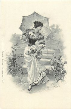 Victorian Lady with Parasol