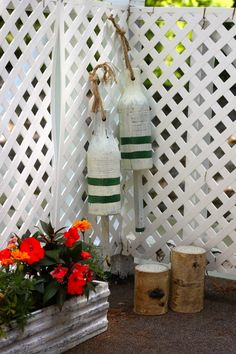 I wonder if my father in law would send me a few of these ?? Nautical patio