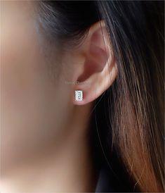 Emerald Cut Diamond Earrings, Solitaire Earrings, Emerald Cut Diamonds, Solitaire Ring, Diamond Jewelry, Diamond Cuts, Color, Diamond Jewellery, Colour