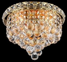 Tranquil Collection 10″ Dia Small Crystal Flush Mount Ceiling Light