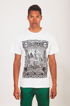 Rella Constructivism T-shirt in White from Brothers We Stand