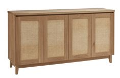 Our Pacific Rattan Buffet is a stunning solution to everyday storage needs. Equally at home in a lounge, dining or entry, this buffet is a welcome addition to any home or office. Rattan Furniture, Furniture Design, Kyal And Kara, Buffet Cabinet, Light Oak, Interior Inspiration, New Homes, Lounge, Storage