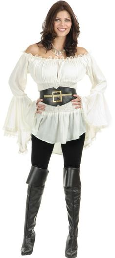 Pirate Lady Vixen Costume Blouse  - Pirate Lady Vixen Costume Blouse   Link    #fashion #women #womenfashion