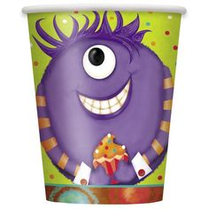 Your little monsters will love sipping their favorite drinks from these Party Monsters Paper Cups at your child's next birthday party. Serve all your favorite hot or cold drinks in these 9oz Party Monsters Cups. Featuring fun and friendly monsters, these disposable paper cups make party clean up fast and easy. Coordinate these Party Monsters Cups with other Party Monsters party supplies and solid color party decorations from Unique. Party Monsters Paper Cups are sold in a package of 8 and…