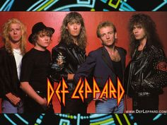 DEF LEPPARD (Pyromania in 1983 and Hysteria in 1987)