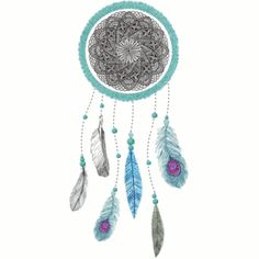 uñas decoradas con atrapasueños y plumas - Buscar con Google