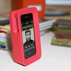{Arkhippo II - red} chunky iPhone case; allows it to stand alone veritcally/horizontally ... kinda groovy!
