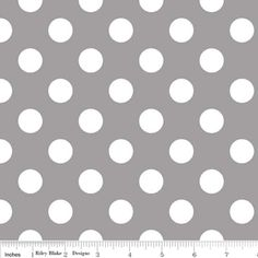 Riley Blake Designs - Flannel Basics - Medium Dots in Gray  @Carol Stivrins  this is the gray I bought