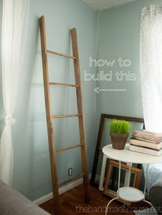 """build a """"vintage"""" ladder for less than $20. Ah, but where would I out it? I'm running out of room for all these cool projects!"""