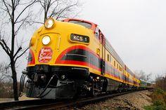 KCS, Kansas City Southern, passenger train, diesel locomotive, F-Units, Southern Belle, Anderson, Mi