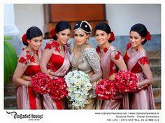 Love the color Bridesmaid Colours, Bridesmaid Saree, Brides And Bridesmaids, Saree Wedding, Wedding Bride, Wedding Ideas, Sri Lankan Bride, Bridesmade Dresses, Elegant Saree