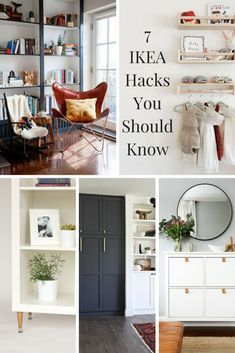 You have to see these amazing IKEA hacks. Here are 7 IKEA hacks you should know. These will inspire you, save you money and give you ideas next time you're at IKEA! #homedecor #homedecorideas #ikea #ikeahack