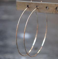 gold Hoop Earrings Solid Gold Hoops by TiffanyAnneStudios Diamond Hoop Earrings, Emerald Earrings, Silver Hoop Earrings, Diamond Studs, Big Earrings, Drop Earrings, Ruby Jewelry, Silver Jewelry, Gold Hoops