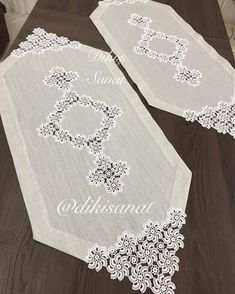 Crochet Lace Edging, Crochet Tablecloth, Crochet Home, Table Runners, Diy And Crafts, Decor, Crochet Table Runner, Crochet Curtains, Towels