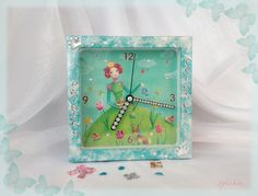 часы Принцесса- clock Princess the picture for sale - продается, is made specifically for hours program PS 6 and Decoupage technique. size 13*13*4 prise: 20.00 euros