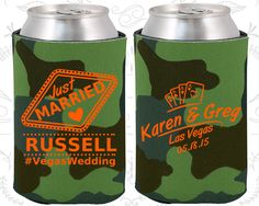 Las Vegas Wedding Favors, Wedding Favors, Just Married Gifts, Playing Cards, Wedding Hashtag, Just Married Wedding Favors, Wedding Koozies (590)