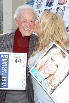 Pamela Anderson and Bob Barker unveil Vegetarian Icons postage sheet