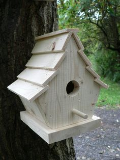 Your place to buy and sell all things handmade TWO Wooden Birdhouses The Uptown Bird House Feeder, Bird Feeders, Bird Feeder Plans, Cool Bird Houses, Homemade Bird Houses, Bird House Plans, Birdhouse Designs, Bird Boxes, Joss And Main