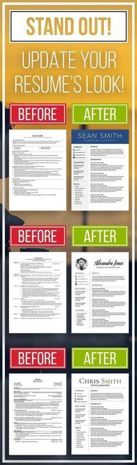 Top Selling Resume Templates - STAND OUT! Resume, Job Interviews - resume templates that stand out