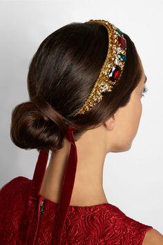 Dolce & Gabbana Filigrana Gold-plated Swarovski crystal headband Tiara #DolceGabbana #Headband