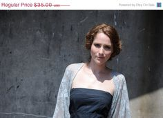 SALE Silver lace shrug 4 options top shawl shrug twist by noavider