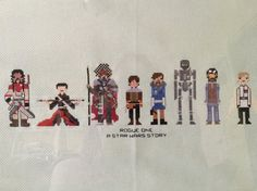 Rogue One Cross Stitch DIGITAL PDF (pattern only) Baze Malbus, Chirrut Imwe, Saw Gerrera, Jyn Erso, Cassian Andor, K-2SO Star Wars by knottybytes