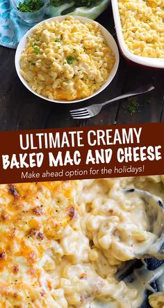 Rich and creamy homemade baked mac and cheese, filled with multiple layers of shredded cheeses, smothered in a smooth cheese sauce, and baked until bubbly and perfect! This baked mac and cheese is a family favorite recipe, loved by children and adults. Best Macaroni And Cheese, Creamy Mac And Cheese, Mac And Cheese Homemade, School Mac And Cheese Recipe, Creamiest Mac And Cheese, Three Cheese Mac And Cheese Recipe, Creamy Baked Macaroni And Cheese Recipe, How To Cook Macaroni, Recipes
