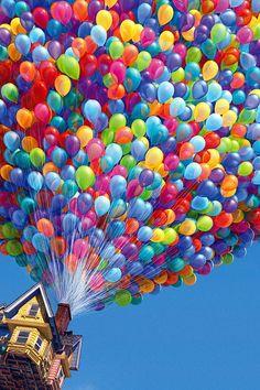 FREEIOS7 | up-balloons - parallax HD iPhone iPad wallpaper