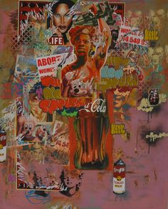 Khayalethu: I like my latest work; it& called Migrant of attraction because it was influenced by what I was seeing happening in the world and I just had to . Street Harassment, Contemporary African Art, Africa Art, Art Projects, Street Art, Urban, Culture, Attraction, Female