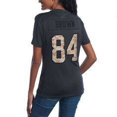 963ff60d7 Antonio Brown  84 Women s Nike Limited Salute to Service Jersey