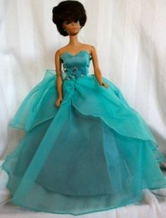 Vintage Barbie VVHTF HALINA'S DOLL FASHIONS CHICAGO TURQUOISE EVENING GOWN - Moonlight Waltz(08/18/2013)