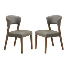 Set of 2 Montreal Mid-Century Solid Wood Dining Chairs - Overstock Shopping - Great Deals on Baxton Studio Dining Chairs