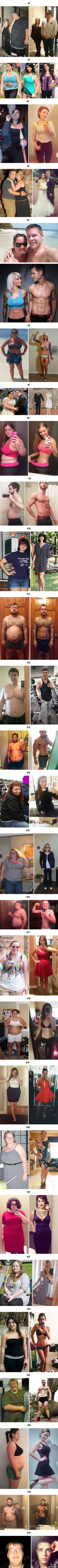 27 Dramatic Weight-Loss Photos Showing What Willpower Can Do