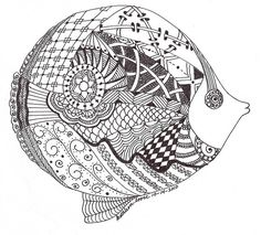 zentangle fish | ... the Round Table  keywords  zentangle (most recent) • most popular
