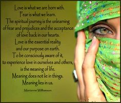 Love is what we are born with