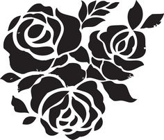 Rose Flower Stencils Printable for Decoration | Activity Shelter