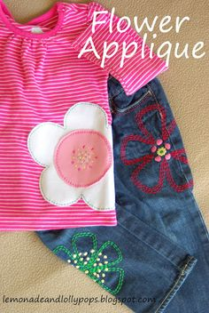 Flower Applique Tutorial!    Tons of Step-By-Step Pictures!    Super Cute & Easy!