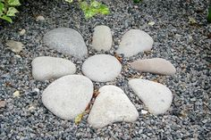Rocks in the Garden. Maybe pattern like this for enchanted front garden area and the gravel path in.