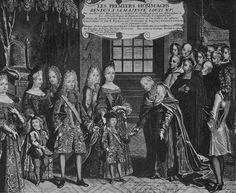 Louis XV receiving the homage of the Cardinal de Noailles after the death of his grandfather, Louis XIV, 1st September, 1715