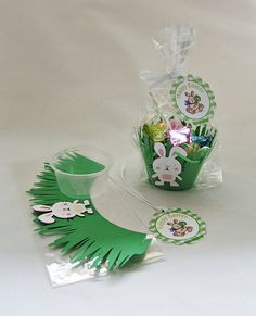 10 DIY Easter Candy Cupcake Favors by 4alloccasionfavors on Etsy, $14.99