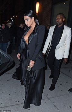 Awesome Prom Dress Cool Kim Kardashian Dress Chic: Kanye kept it just as formal dressed in a white ... Check more at http://24store.ml/fashion/prom-dress-cool-kim-kardashian-dress-chic-kanye-kept-it-just-as-formal-dressed-in-a-white/