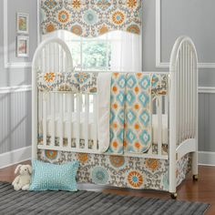 cool Neutral Crib Bedding Sets