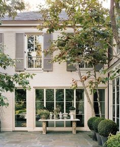 Paint colors and slate patio go well together. Beautiful houses and architecture