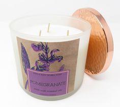 Bath & Body Works Pomegranate 3 wick 14.5 oz candle essential oils eucalyptus #BathBodyWorks