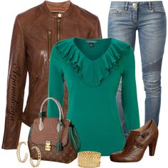 Louis Vuitton Brown & Turquoise Bag, created by arjanadesign on Polyvore