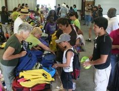 The Appalachian Helping Hands ministry in East Tennessee gives backpacks full of school supplies to needy children.The extra school supplies are donated to local schools. (Backpacks, school supplies needed for Operation Hope's giveaway pictured.)